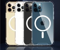 Magsoge Transparent Clear Acrylic Magnetic Shockproof Phone Cases for iPhone 13 12 Mini 11 Pro Max XR XS X 8 7 Plus With Retail Package Compatible Magsafe Charger