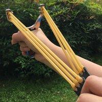 6pcs Catapult Reemplazo de tiras elásticas para accesorios de caza al aire libre Pro Slingshot Bandas de goma