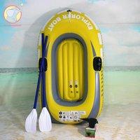 Balsa inflable de la balsa con remos y bomba de aire agua flotante ribete de remo único / botes inflables