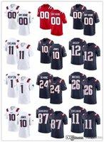 "Benutzerdefinierte New England ""Patrioten"" Jersey 12 Tom Brady 10 Mac Jones 11 Julian Edelman 24 Stephon Gilmore 26 Sony Michel Football Trikots"