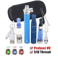 UGO T Preheat VV Vape Kits 4 in 1 EVOD Vaporizer Pens E Cigarette 650mAh 900mAh EGO Battery With four Atomizers