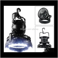 Lanterns 2In1 Portable 18 Led Tent Camping Light With Ceiling Fan Hiking Outdoor Latern Oed5T Q57Rn