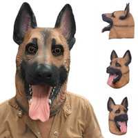 Lovely Dog Head Latex Mask Full Face Adult Breathable Halloween Masquerade Fancy Dress Party Cosplay Costume Animal Hh7-115
