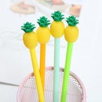 Kawaii Fruit Pen Cute Pineapple Gel Pens for School Students Office Korean Stationary Mixed Colors
