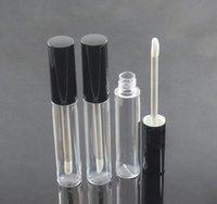DHL 10ML Conteneur d'huile de lèvre de la lèvre de la lèvre vide, flacon de lipgloss, emballage de tube brillant à lèvre ronde vide avec bouchon d'argent noir