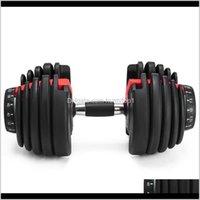 Levantamento de peso ajustável Dumbbell 5525Lbs Fitness Workouts Dumbbells Tone Tons e Construa seus músculos Zza2196 WVD92 D4YCL