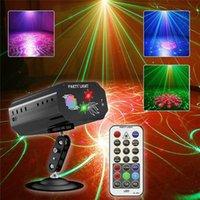 Party Lights DJ диско лазерное освещение RGB дистанционный звук активирован стробоскоп этап проектора света для рождественских украшений хэллоуин день рождения свадьба караоке KTV