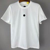 CP Chinacpcompany Yaz Yuvarlak Boyun Pamuk Severler T-shirt Işlemeli Mektup Logosu erkek Kısa Kollu Eğlence Açık Polo Gömlek
