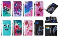 Flip Wallet Leather Cases for iphone 13 pro max mini Samsung A03S Moto G Stylus 2021 5G Butterfly Panda Cat Flower Heart Love ID Card Slot c