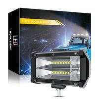 5 inch 72W 24 LED Working Light Bar 12V 24V 7200LM Flood Spot Combo Fog Lamp Offroad Driving Truck