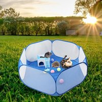 Kennels & Pens Small Pet Cage Tent Playpen Breathable Animals Folding Portable Fence For Hamster Hedgehog Puppy Cat