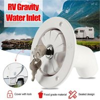 Parts RV Accessories Fresh Water Fill Hatch Inlet Filter Lockable For Boat Camper Trailer White Caravan Camping Motorhome