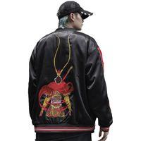 Yokosuka Luxus Affe King Sun Wukong Stickereijacken Glatte Männer Frühling und Herbst Lose Baseballjacke Casual Coats Männer
