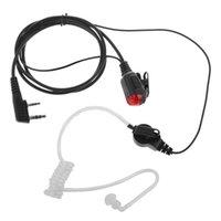 10x fone de ouvido com ptt vermelho LED indicador headset tube acústico para kenwood th-d7 tk-250 tk-2106 tk-3107 rádio