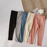 Leggings Babyhosen Mädchen Strumpfhosen Kinder Kleidung Frühling Herbst Baumwolle Lange dünne Hose 2-7Y B5251