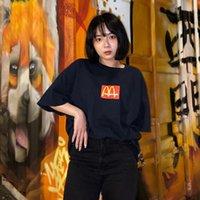 2021SS Travis Scott Cactus Jack x M Ins T-shirt Homens Verão Moda Streetwear Impresso Camisas de Manga Curta