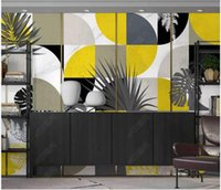 Custom 3d murals wallpaper Hand painted abstract art graphics retro tropical plants indoor wallpapers background wall papers home decor