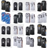 Kevin 7 Durant Basketball Jersey Mens Kyrie 13 Harden City 11 Irving Blue 화이트 블랙 민소매 셔츠