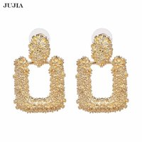 Dangle & Chandelier JUJIA Vintage Fashion Jewelry Earrings Gold Geometric Statement Earring Metal Hanging Drop For Women