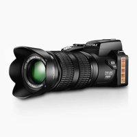 Dijital Kameralar HD Protax Polo D7100 Kamera 33MP Çözünürlük Oto Focus Profesyonel SLR Video 24x Optik Yakınlaştırma ile Üç Lens