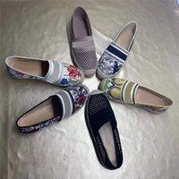 2021 Balıkçı Tasarımcılar Ayakkabı Alfabe Sandalet Örgü Nakış Loafer'lar Saman Örgü Keten Sandal Moda Baskı Terlik Kenevir Soled Düz Ayakkabı