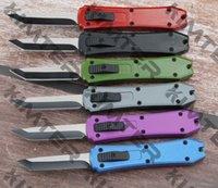 5,25 Zoll doppelte Action aus dem vorderen automatischen Mini-Messer Tanto-geradliniger Kante 440c-Stahlklinge gummierter Griff EDC-taktische Micro-Taschenmesser Cncostco