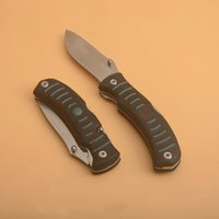 Top Quality Two Blades Survival Folding Knife 8Cr13Mov Satin Blade ABS Handle Outdoor Multifunction EDC Gear WIth Retail Box