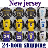 2021 LeBron 23 Джеймс Энтони Кайл Дэвис Los Angeles Lakers Kobe 24 Bryant 8 Кузьма Баскетбол Джерси Earvin Шакил Джонсон