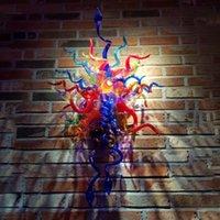 Unique Designed Multi Color Hand Blown Glass Wall Lamps Decor Art Italy Murano Shade LED Lamp 36 Inches