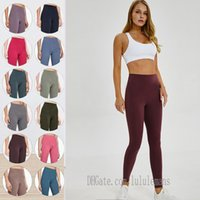 LU-32 LU Leggings Womens Yoga Suit Suit Pantaloni a vita alta Sport Aumentare i fianchi Palestra Abbigliamento Allinea Allenamento Allenamento Allenamento Fitness Allenamento L6E8 #