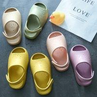 Bébé Toddler Enfants Sandales de mode Sandales de mode Garçons Filles Eva Beach Été Diapositures osseux Résine Enfants