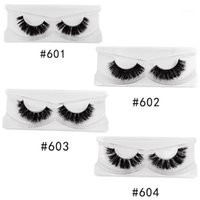 Fluffy Eyelashes 1 Pair Real Mink Reusable Makeup Fake Lashes Big Volume Sexy Soft False Full Strip Eyelash1