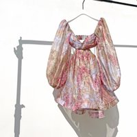 STAR'S STAR'S MÊME VINTAGE DESIGNS, Robe de vacances florale vintage vintage sans dos de dos, jupe moelleuse