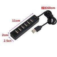 가구 액세서리 7 포트 스위치 USBHUB USB 분배기 단일 2.0HUB 7 포트 HUB2.0