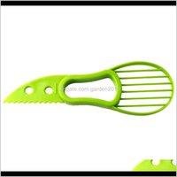 Vegetable 3In1 Avocado Slicer Fruit Cutter Corer Pulp Separator Shea Butter Knife Kitchen Helper Accessories Gadgets Cooking Tools Sah 8Vlmx