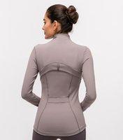 L-78 veste femme imprimante numérique manteau de mode décontracté fermeture fermeture fermeture fitness gym vêtements femmes yoga sport stretch gant manches top shirts