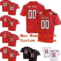 NCAA College Jerseys Texas Tech 55 E.J. Holub 56 Jack Anderson 58 Madison Akamnonu 62 Le'Raven Clark 7 Jett Duffey Custom Football Stitched