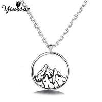 Yiustar Hollow Mountain Inspirational Collana per donna Girls Charm Escursionismo Catena Catena Colleghe Collane Bijoux Climbing Regts Pendant