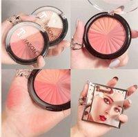 Teyason maquiagem blush palette face maquiagem longa duração natural bochecha blusher pó rouge minerais contorno cosméticos