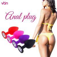 Yutong 4 Color Butt Butt Bouchon Anal Diamond Nature Shop avec vibrateur pour femme Hommes Gay Massage Ass mastage Night Night Masturbation