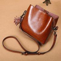 Bolsa de hombro portátil de cuero de alta gama de cuero de la cabeza de cuero para mujer