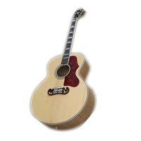 사용자 정의 43 인치 어쿠스틱 기타, 나무 기타, 중공 200 기타, 메이플 바디, 메이플 넥, 골든 하드웨어,