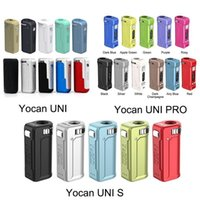 최신 11 색 정통 Yocan Uni Pro S Box Mod 650mAh 모든 510 스레드 카트 카트리지에 대 한 예열 VV vape 배터리 100 % 원래