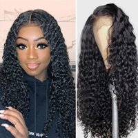 Lace Wigs Deep Wave Front Human Hair Wig For Women Peruvian Curly 13X4 Frontal 4X4 Natural HairLine