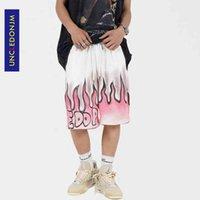 InDeDonjm Flamme Sweat coréen Kanye Kanye Treewear Short gay pour hommes Punk Pants UDK31