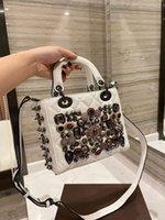 Luxury New Designer Full Christian Diamond Badge Princess Bag Black White Fashion Nightclub Portable Shoulder Personalized Hand Girltop