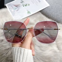 New polarizing sunglass personalized Korean large frame irregular sunglass Fashion Street Photo sunglass 21005