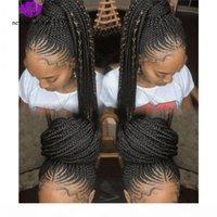 Натуральные Handtied Cooklow Cooks Wig Black Box Books Синтетические кружева Фронтные парики для черных женщин Micro Boys парик с волосами для детей