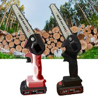 Mini Chainsaw Portable Cordless Chain Saw Electric Battery Wood Cutter Pruning Saw Home Garden Logging Power Tool