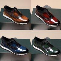 Berluti Sneaker El Yapımı Deri Ayakkabı El Dikiş Scitto En Kaliteli Erkek Casual Hızlı parça